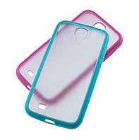 Чехол-бампер для Samsung i9500 Galaxy S4 голубой