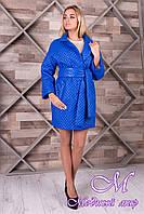 Женское яркое пальто из плащевки (р. S, M, L) арт. Салли 9995