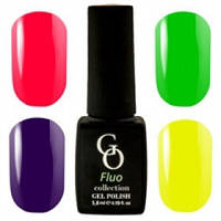 Флуорисцентные гель - лаки Go Fluo, 6ml
