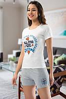 """Пижама женская футболка с шортами """"Maranda"""", Турция, размер XXL"""