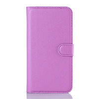 Чехол книжка Litchi Skin Wallet для ZTE Blade X3 фиолетовый