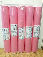 Простынь одноразовая розовая 0.80х100м. Плотность 25