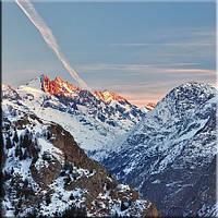 Светящиеся картины Startonight Горы Альпы Природа Пейзаж Печать на Холсте Декор стен Дизайн