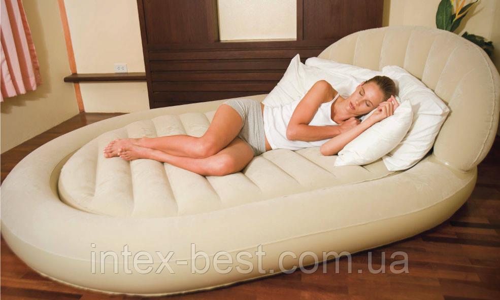 Двуспальная надувная кровать Bestway 67397 (215х152х60 см.) без насоса