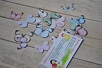 Высечки бабочки (коллекция Влюбленность). В наборе 16 бабочек.