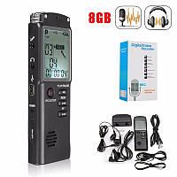 Цифровой диктофон Т60 (t60). 8 Гб + MP3 плеер + Li-pol аккумулятор