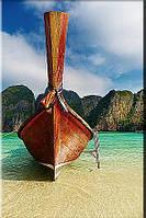 Светящиеся картины Startonight Лодка на Пляже Природа Пейзаж Печать на Холсте Декор стен Дизайн