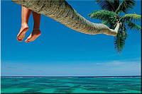 Светящиеся картины Startonight Тропический Пляж  Природа Пейзаж Печать на Холсте Декор стен Дизайн