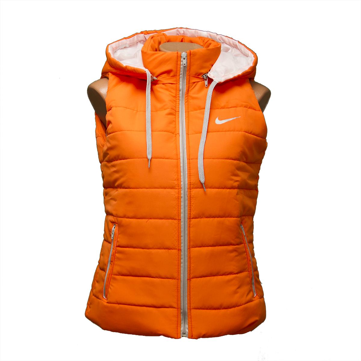 Женская жилетка оранж в розницу по низким ценам D1123