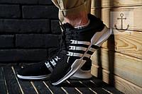 Мужские кроссовки Adidas Equipment Support ADV 🔥 (Адидас EQT Эквипмент) Black-White