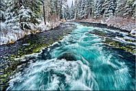 Светящиеся картины Startonight Горная Река Море и Горы Вода Природа Пейзаж Печать на Холсте