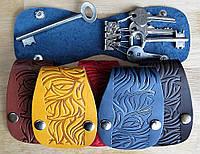 Чехол Блокнот для ключей кожаный Дикая природа, фото 1