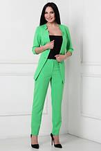 Брючный костюм с пиджаком Классика (салатовый) 46 размер!!!
