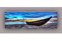 Светящиеся картины Startonight Лодка Берег Море и Горы Вода Природа Пейзаж Печать на Холсте