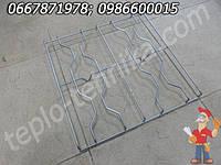 Решетка стальная хромированая для плиты Карпаты 47х45,5 см