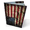 """Кожаная обложка для паспорта  """"Америка"""""""