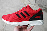 Мужские кроссовки adidas zx flux red