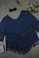 Блуза женская летняя с элементами макраме Italy, фото 1