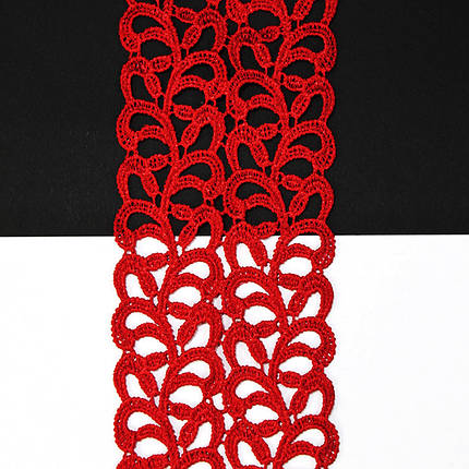 Кружево арт. 101 6,5 см красное, фото 2