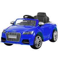 Детский электромобиль Audi TT ZP 8006 EBLR-4, колеса EVA, кож сидение, синий