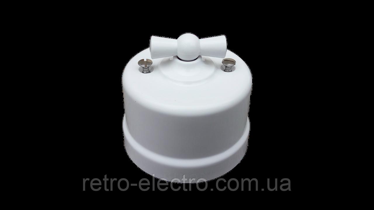 112568d5c347 Ретро выключатель белый пластиковый BIRONI(Одноклавишный)  продажа ...