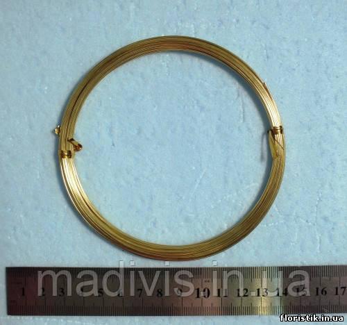 Проволока в мотках золото, 1 мм.