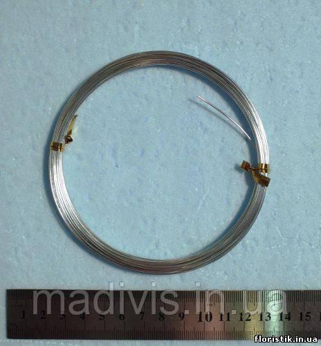 Проволока в мотках серебро 1 мм.