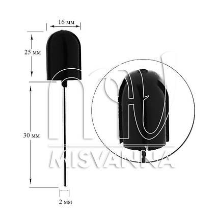 Резиновая насадка для колпачков, размер 16х25 мм, фото 2