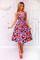 Платье. Ткань - котон. Юбка на фатине. 5 расцветок ,фото реал ,супер качество апро№ 173-420