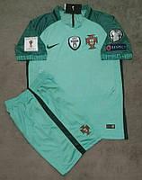 Футбольная форма Португалия зеленая сезон 16-17 короткий рукав