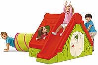 Игровой домик с горкой и туннелем KETER FUNTIVITY