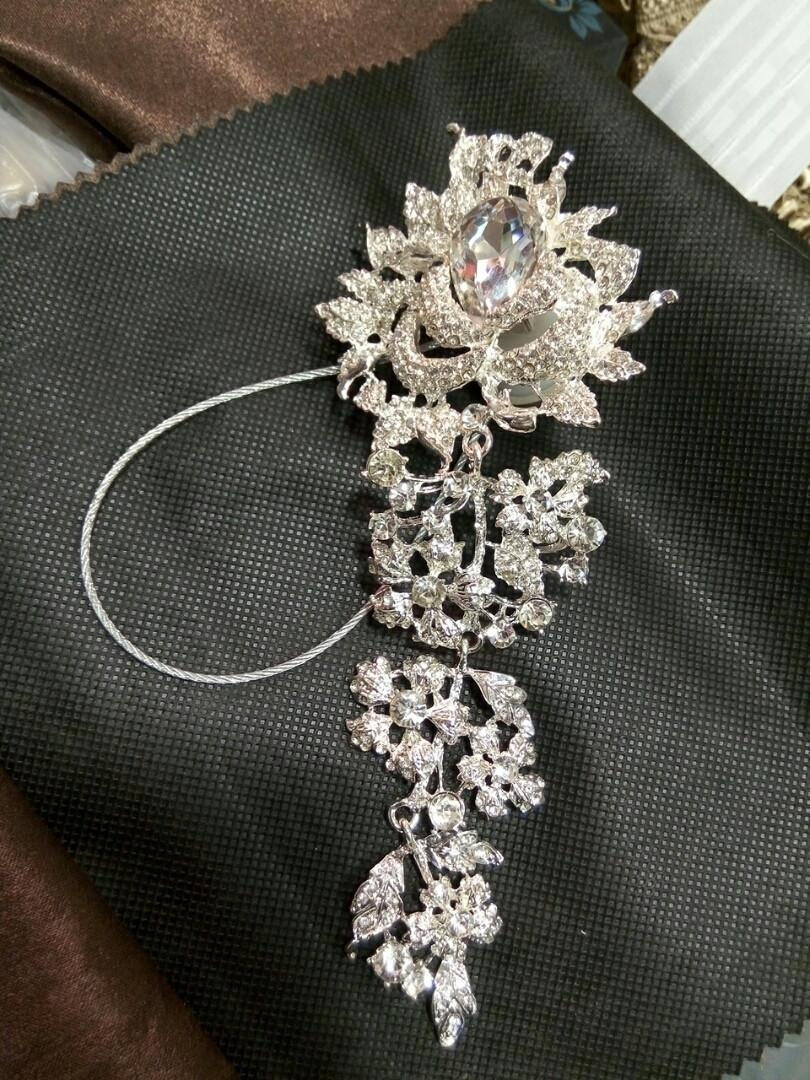 Декоративный магнит подхват держатель для тюлей и штор № 1-100