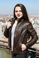 Кожаная куртка, натуральная, цвет - коричневый