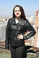 Кожаная куртка, черная, фото 1