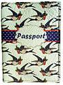 """Кожаная обложка на паспорт """"Ласточки"""", фото 2"""