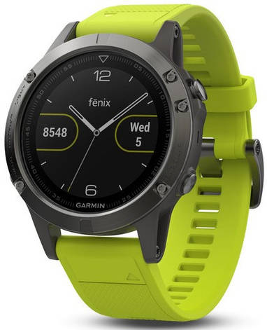 Смарт-годинник Garmin fenix 5 Slate Gray with Amp Yellow Band, фото 2