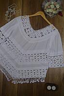 Блуза женская летняя с элементами макраме Italy белый