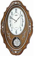 Часы настенные из дерева - кристаллы - бой- JAPAN