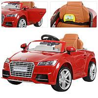 Детский электромобиль Audi TT ZP 8006 EBLR-3, колеса EVA, кож сидение, красный