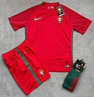 Футбольная форма Португалия красная сезон 16-17 короткий рукав