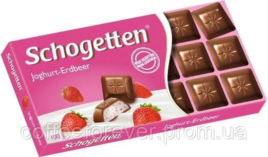 Шоколад молочный Schogеtten Yoghurt-Strawberry с клубничным йогуртом 100г, фото 2