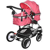 Универсальная детская коляска трансформер Belecoo 535-Q3 pink розовая