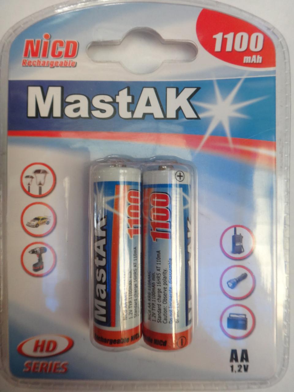 Аккумулятор AA 1100mAh 1.2v MastAK