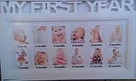 Фоторамка коллаж Baby 12фото 5x6 бел 34v5-7