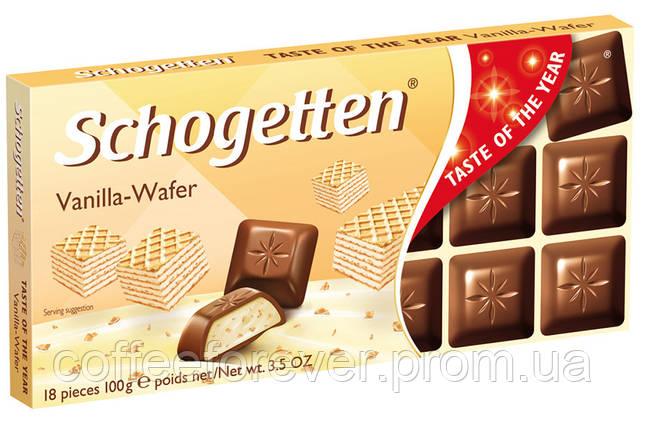 Шоколад молочный Schogеtten Vanilla-Wafer ванильно-вафельный 100г, фото 2