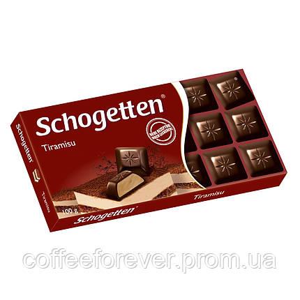 Шоколад черный Schogеtten Tiramisu 100г., фото 2