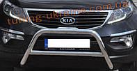 Защита переднего бампера кенгурятник из нержавейки на Nissan Murano 2002-2008