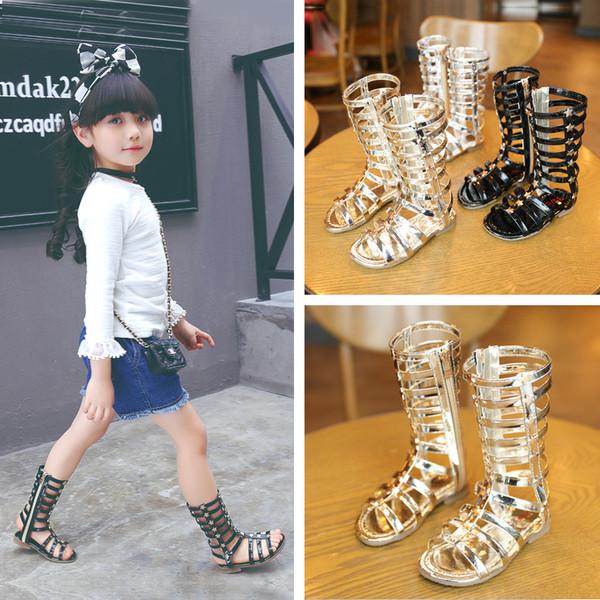 Детские сандали на девочки высокие