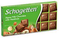 Шоколад молочный Schogеtten Alpine milk chocolate with Hazelnuts с орехом 100г., фото 2