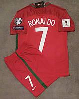 Футбольная форма Португалия Роналдо сезон 16-17 короткий рукав